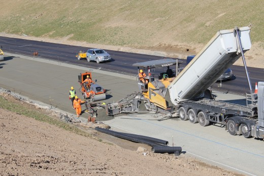 KOF International Road Construction Company Laying CBM on N11 Motorway